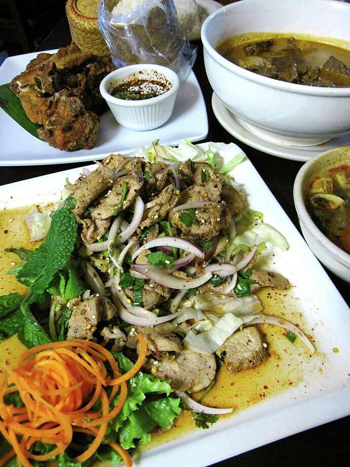 Thai Dee  5307 Blanco Road  210-342-3622   thaideesa.com  Cuisine: Thai  Specialties: Papaya salad, grilled moo ping, green bean curry  Price range: $ Photo: Mike Sutter /San Antonio Express-News
