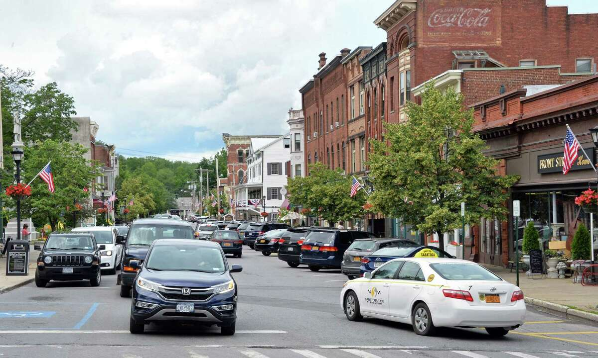 A view down Front Street from Milton Avenue Tuesday June 27, 2017 in Ballston Spa, NY. (John Carl D'Annibale / Times Union)