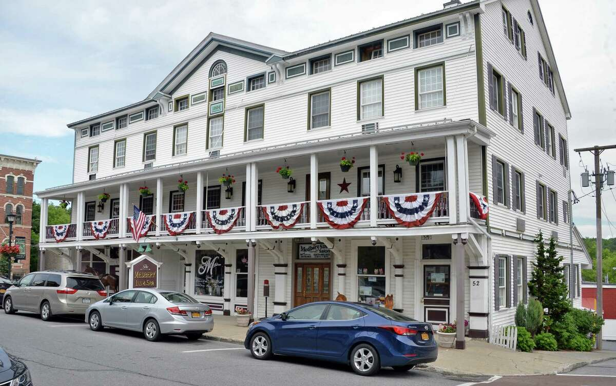 The historic Medbery Inn and Spa Tuesday June 27, 2017 in Ballston Spa, NY. (John Carl D'Annibale / Times Union)
