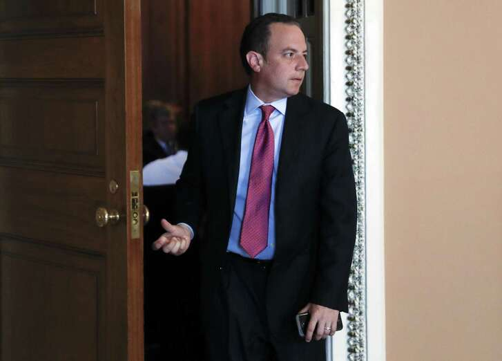 White House Chief of Staff Reince Priebus leaves a meeting on Capitol Hill last month. White House failures have prompted rumors of his ouster, but the president himself is responsible for these failures.