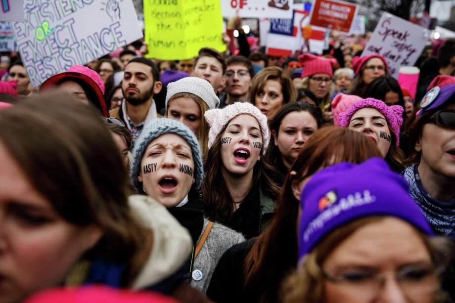 Events such as the Women's March on Washington on Jan. 21 reflect a gift to the nation by Donald Trump — unity against him and in restoring good, responsible governance. Photo: Marcus Yam /TNS / Los Angeles Times