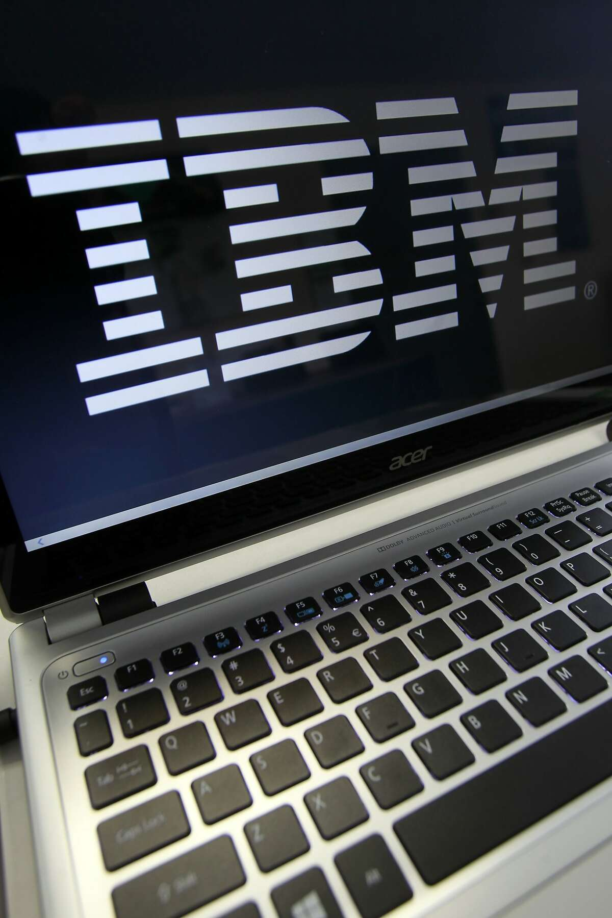 In this Tuesday, July 16, 2013, photo, an IBM logo is displayed in Berlin, Vt. (AP Photo/Toby Talbot)