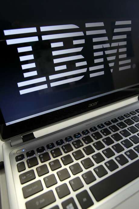 In this Tuesday, July 16, 2013, photo, an IBM logo is displayed in Berlin, Vt. (AP Photo/Toby Talbot) Photo: Toby Talbot, Associated Press