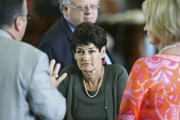Senator Donna Campbell, R-New Braunfels, listens to arguments on the floor on the second day  of the special legislative session on July 18, 2017.