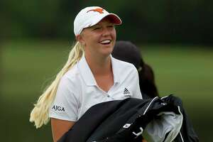 Montgomery's Hailee Cooper, a University of Texas verbal commit, finished in a three-way tie for first after heavy rain canceled the final round of the Women's Stroke Play Championship at The Clubs of Kingwood, Saturday, June 24, 2017, in Kingwood.