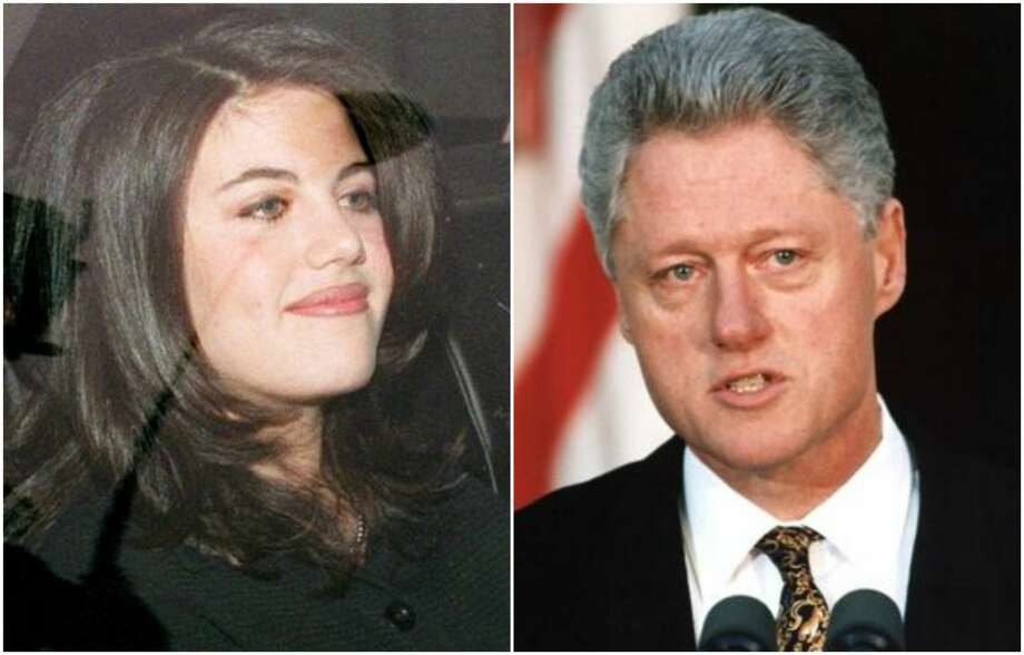 "Monica Lewinsky vs. Bill Clinton  Stop us if you've heard this one before: woman gets internship; woman has multiple sexual encounters with president of the United States; president declares he ""did … not ... have … sexual … relations ... with that woman""; woman's blue dress disagrees. Photo: Getty Images"