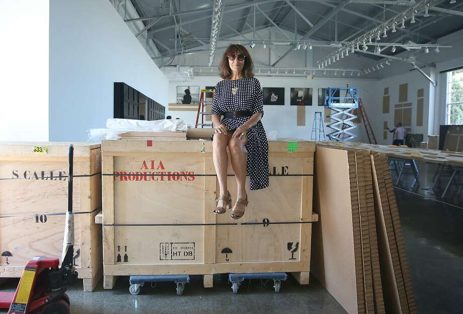 "French artist Sophie Calle's mega-exhibition ""Missing"" commands four sites at the Fort Mason Center for Arts and Culture. Photo: Liz Hafalia, The Chronicle"