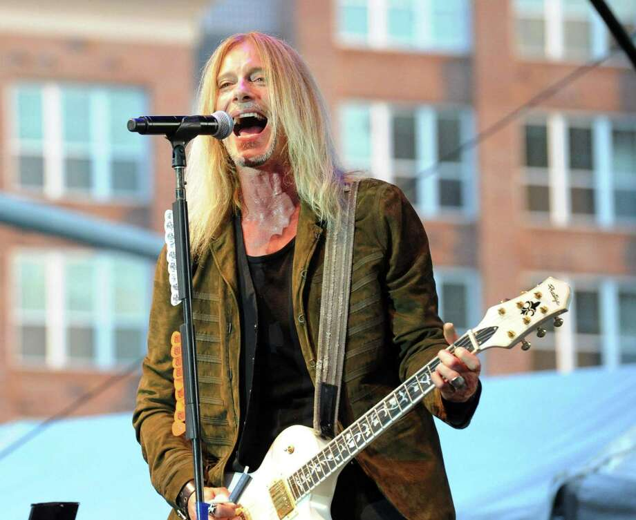 Derek Sharp the lead singer of  The Guess Who during the band's  performance at Wednesday Nite Live in Columbus Park, Stamford, Conn., Wednesday night, July 19, 2017. The warm-up band was Station. Photo: Bob Luckey Jr. / Hearst Connecticut Media / Greenwich Time