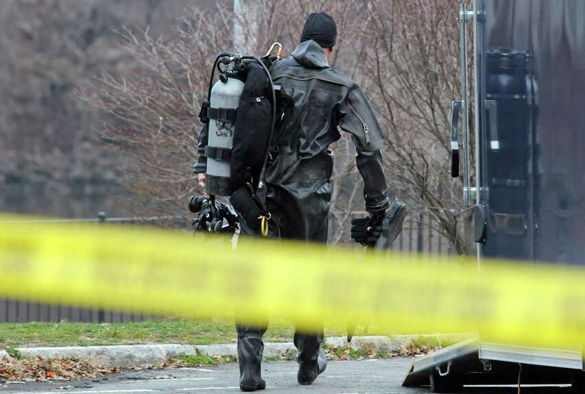 Authorities resume their search for missing 21-year-old Noel Alkaramla at River Front Park on Saturday Dec. 5, 2015 in Troy, N.Y. (Michael P. Farrell/Times Union)