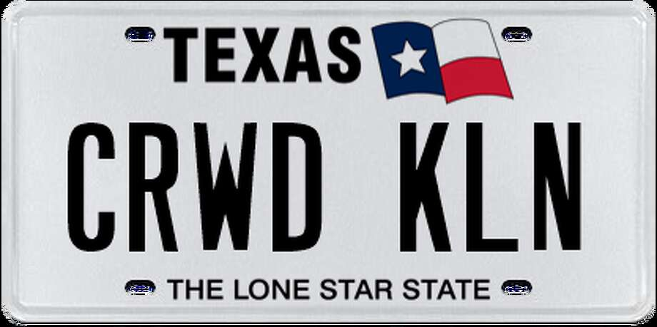Licence plates rejected by the Department of Motor Vehicle in January, February and March. Photo: Chron.com