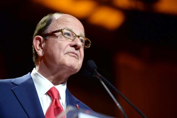 HOLLYWOOD, CA - DECEMBER 08: USC president C. L. Max Nikias speaks onstage during Ambassadors for Humanity Gala Benefiting USC Shoah Foundation at The Ray Dolby Ballroom at Hollywood & Highland Center on December 8, 2016 in Hollywood, California. (Photo by Michael Kovac/Getty Images)