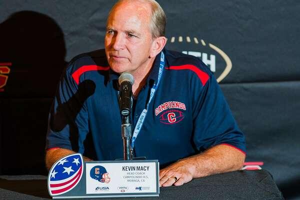 Campolindo football coach Kevin Macy