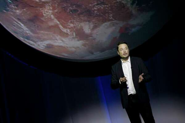 "FILE - In this Sept. 27, 2016 file photo, SpaceX founder Elon Musk speaks during the 67th International Astronautical Congress in Guadalajara, Mexico. On Wednesday, July 19, 2017, Musk said the first launch of its big new rocket, the Falcon Heavy, is risky and stands ""a real good chance"" of failure. (AP Photo/Refugio Ruiz, File)"