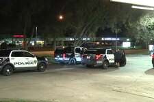 Police are investigating a shooting early Monday outside of a west Houston apartment complex that left two people injured. (Metro Video)