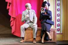 Zach Prout and Ashley Potts in a rehearsalof Alfred Hitchcock's 'The 39 Steps.' (Daily News file photo)