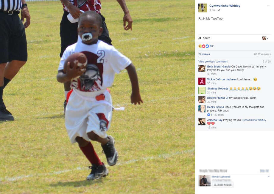 Tributes have poured in on social media after a drive-by shooting in the East Side on July 20, 2017, left a 4-year-old boy dead and his mother injured. Photo: Screengrab Via Facebook