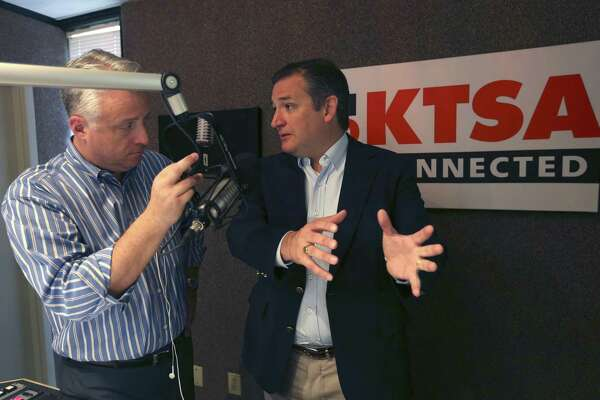 U.S. Senator Ted. Cruz, R-Texas, seen with KTSA radio host Jack Riccardi, was in San Antonio on July 6, 2017, for an appearance on in Trey Ware's morning show.