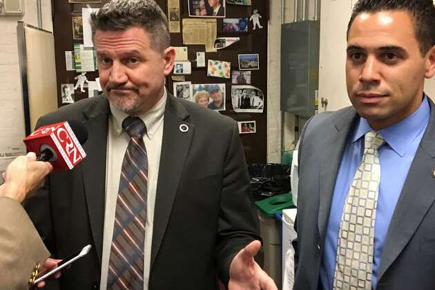 Kevin Brown, left, Mohegan tribal chairman and Rodney Butler, Mashantucket Pequot believe they can get approval for a third casino in East Windsor within 45 days of additional action by the Connecticut General Assembly.