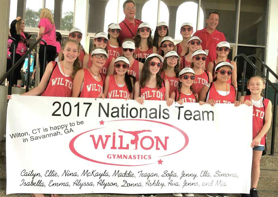 The Wilton Y Gymnastics team poses for a photo during a successful trip to the US YMCA Nationals in Savannah, Georgia, earlier this month. Photo: Contributed Photo / Hearst Connecticut Media / Norwalk Hour