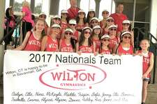 The Wilton Y Gymnastics team poses for a photo during a successful trip to the US YMCA Nationals in Savannah, Georgia, earlier this month.
