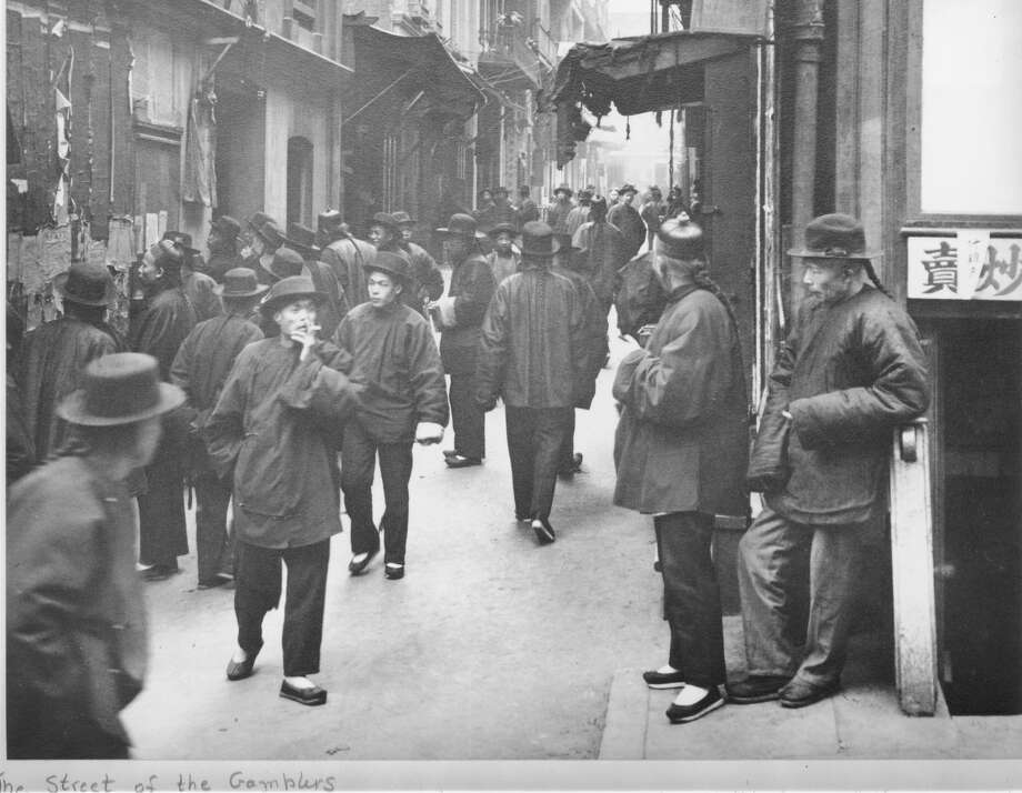 A General View of Chinatown 'Street of the Gamblers', San Francisco circa 1898.  (Photo by Fotosearch/Getty Images) Photo: Fotosearch/Getty Images