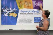 Ridgefield Chamber of Commerce Executive Director Jennifer Zinzi speaks during a press conference on Wednesday, July 19, 2017, at Western Connecticut State University in Danbury, Conn., announcing the Young Entrepreneurs Academy coming to greater Danbury.