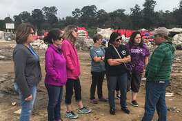 Humble Elementary teachers visit the city dump where the majority of students and their parents work inChimaltengo, Guatemala.