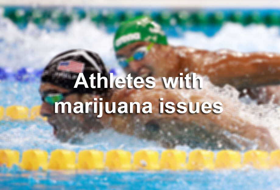 Click ahead to see which athletes made the news for marijuana use. Photo: File