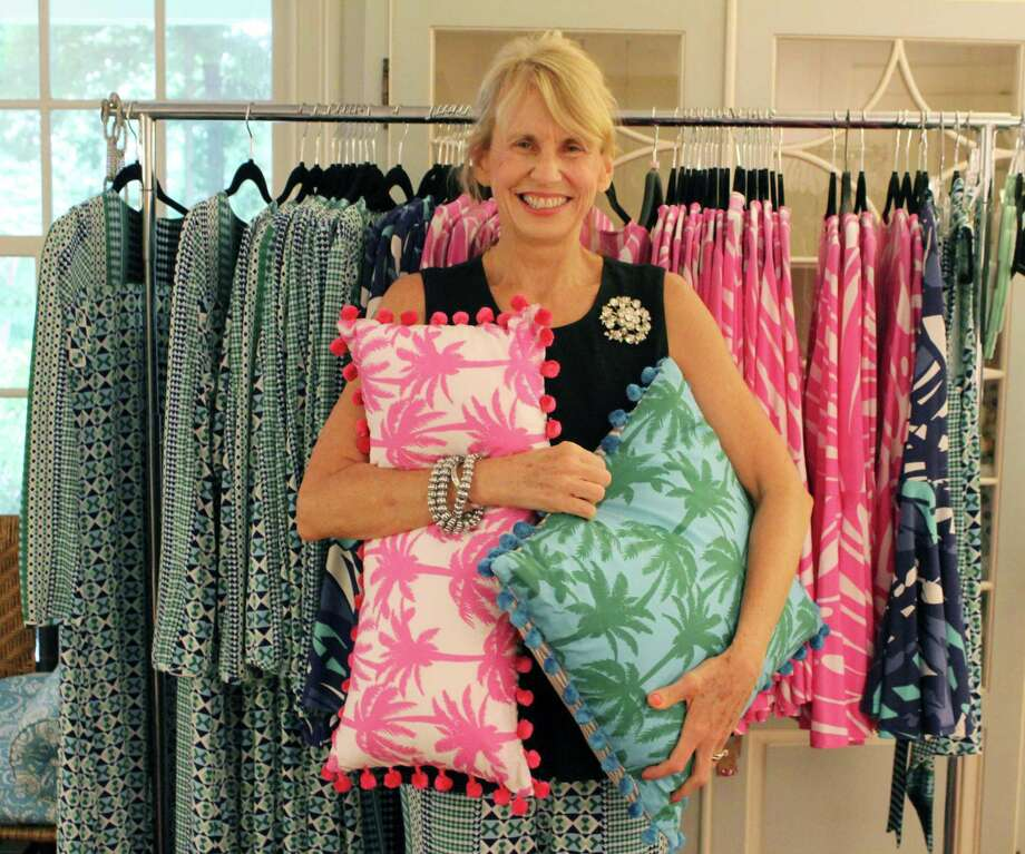 Wilton fabric designer, Jennifer Paganelli, reveals the first collection of her recently launched clothing line, East End Lifestyle, in her Wilton home on Wednesday, July 13, 2017. Photo: Stephanie Kim / Hearst Connecticut Media