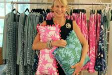 Wilton fabric designer, Jennifer Paganelli, reveals the first collection of her recently launched clothing line, East End Lifestyle, in her Wilton home on Wednesday, July 13, 2017.