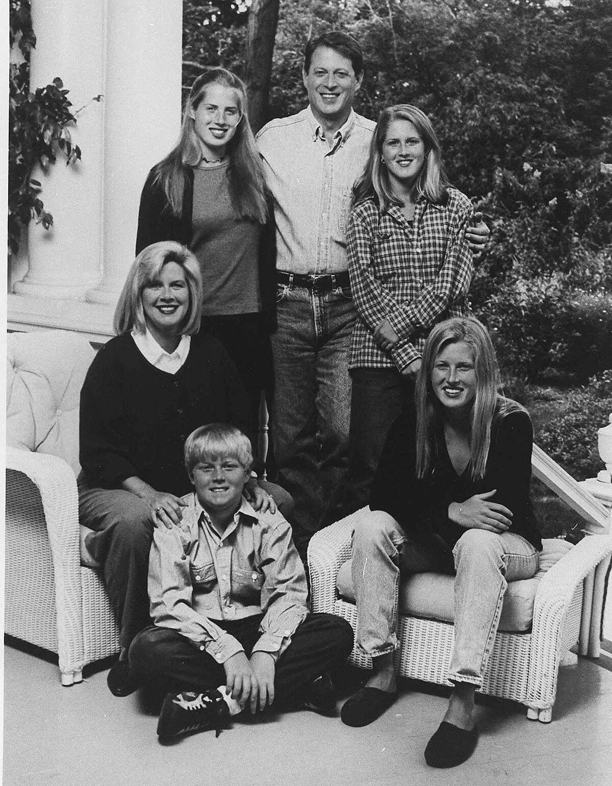 The Gore family in 1995.