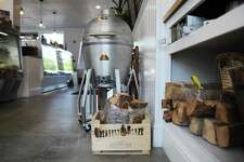 Greatest Blaze products on display at the Darien Butcher Shop on Thursday. The Byram-based firewood and outdoor entertainment brand branched out to sell its products in the Darien Butcher Shop starting in mid-June.