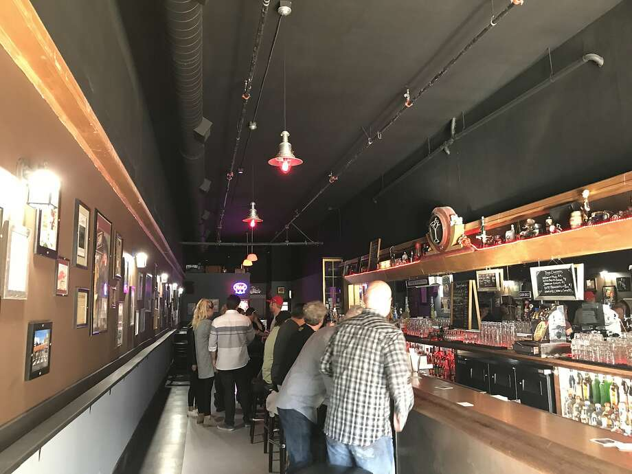 The bar at the new Doc's Clock location, two blocks away from the original bar. Photo: Esther Mobley