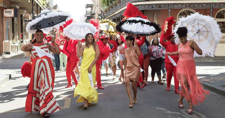 Queen Latifah, from left, Regina Hall, Jada Pinkett Smith and Tiffany Haddish star in 'Girls Trip'.