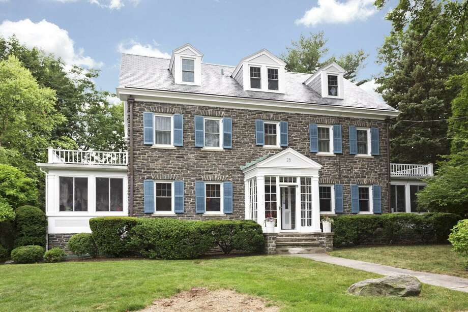 The 1923 home in Revonah Woods at 25 Chester Street in Stamford, Conn. has five bedrooms, four and a half bathrooms and is 3,500 square feet. It is owned by Cara and Elliot Naumann. Photo: Courtesy Of Halstead Connecticut / Contributed Photo / Stamford Advocate Contributed