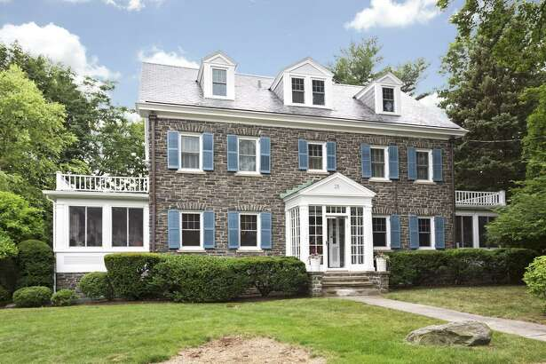The 1923 home in Revonah Woods at 25 Chester Street in Stamford, Conn. has five bedrooms, four and a half bathrooms and is 3,500 square feet. It is owned by Cara and Elliot Naumann.