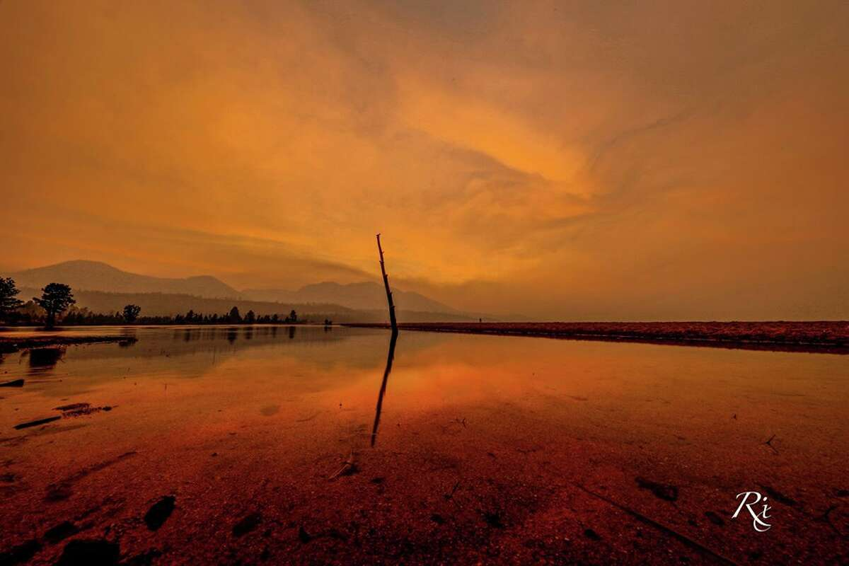 Smoke from a wildfire burning in Mariposa County blew into the Tahoe Basin and created a spectacular sunset. South Lake Tahoe photographer Kurt Rix ofAmazing Imagerycaptured the photo on July 19, 2017.
