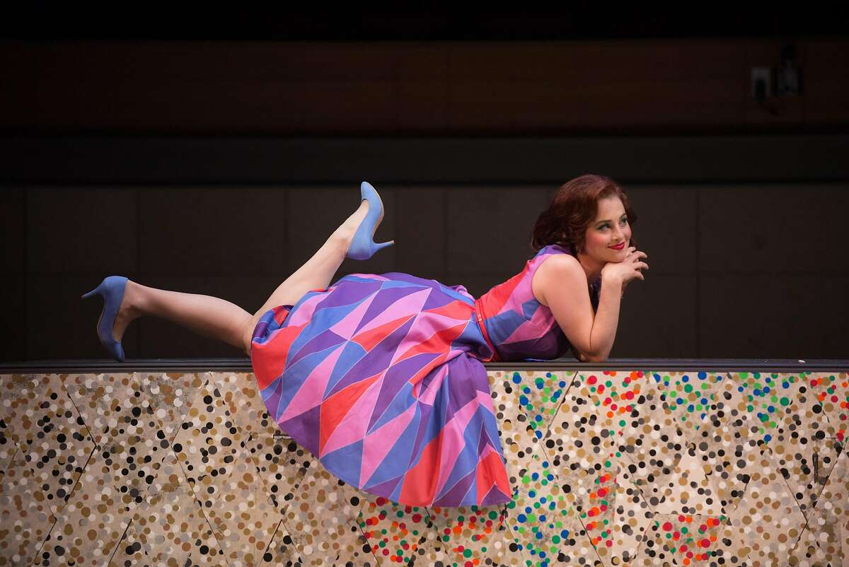 "Jana McIntyre in the Merola Opera Program production of Pergolesi's ""La serva padrona."""