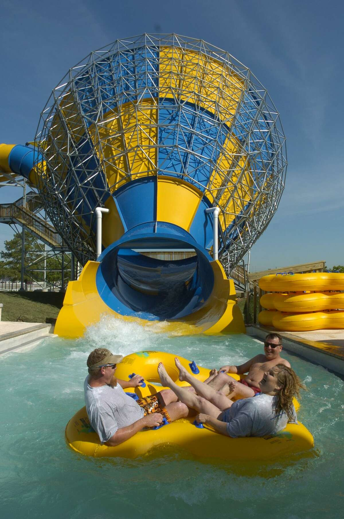 SpringCry about how you miss Waterworld while you speed down a slide at Wet N' Wild SplashTown, formerly Six Flags SplashTown.