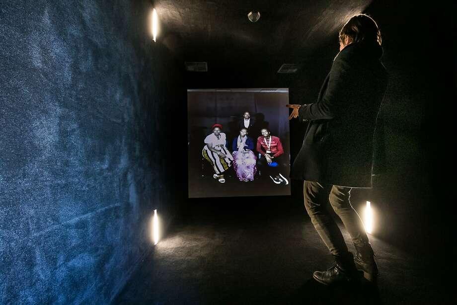 S.F. portal curator Anne-Marie Litak speaks with Laura Eileen, David Muya, Beverly Mageto and Simon Muoki live in Nairobi, Kenya. Photo: Paul Kuroda, Special To The Chronicle
