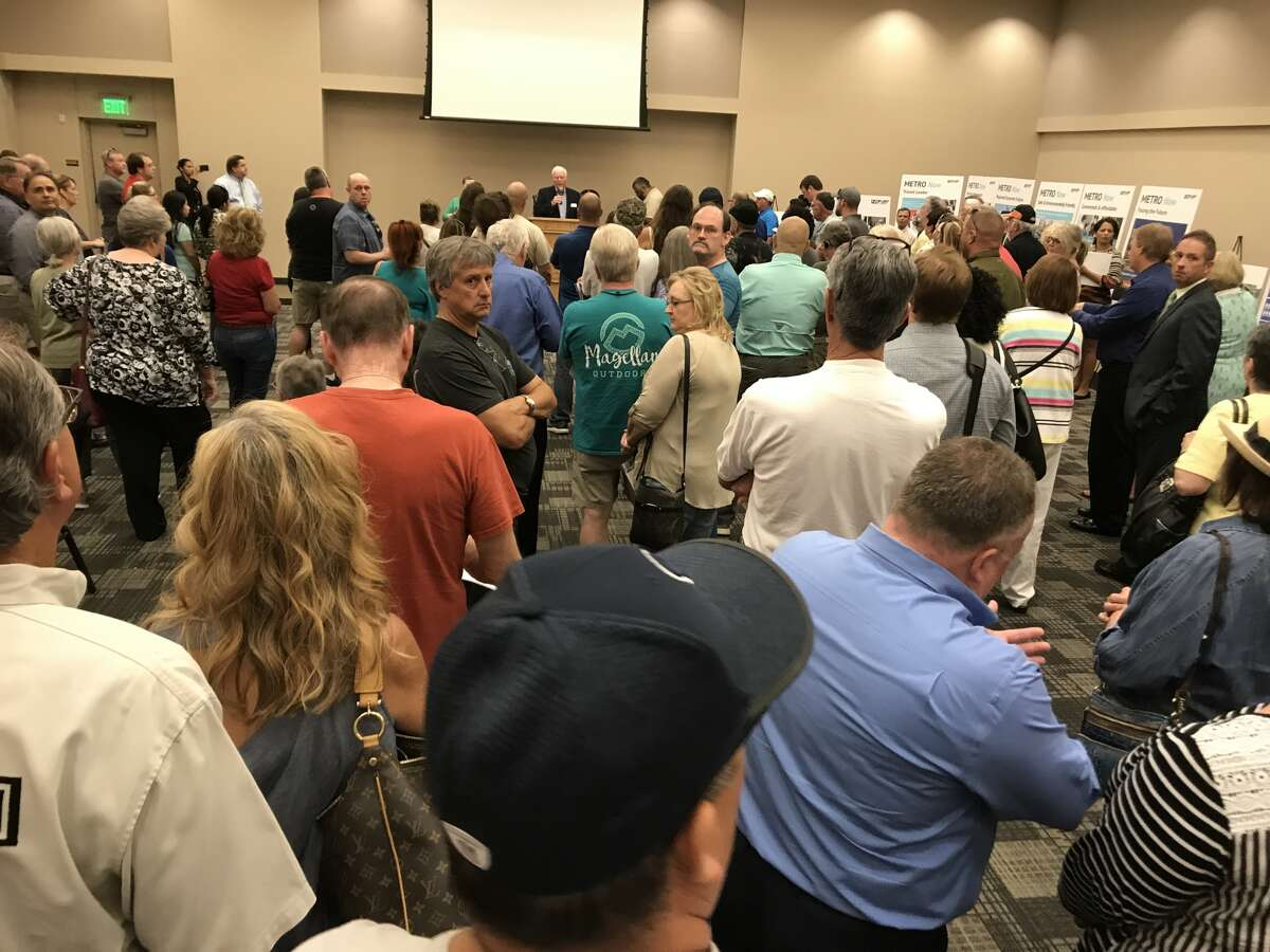 Residents packed a meeting in Spring this week on Metro's regional transit plan.