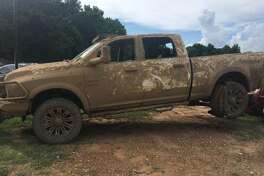 Four Splendora teens are being blamed for the theft and destruction of this Dodge Ram, stolen July 12 from a Brice Lane address in Splendora.