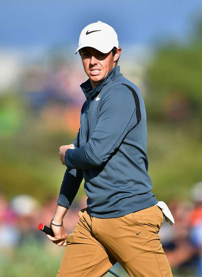 Rory McIlroy of Northern Ireland reacts from the 15th hole during the first round of the 146th Open Championship at Royal Birkdale on July 20, 2017 in Southport, England. (Photo by Stuart Franklin/Getty Images) Photo: Stuart Franklin, Getty Images