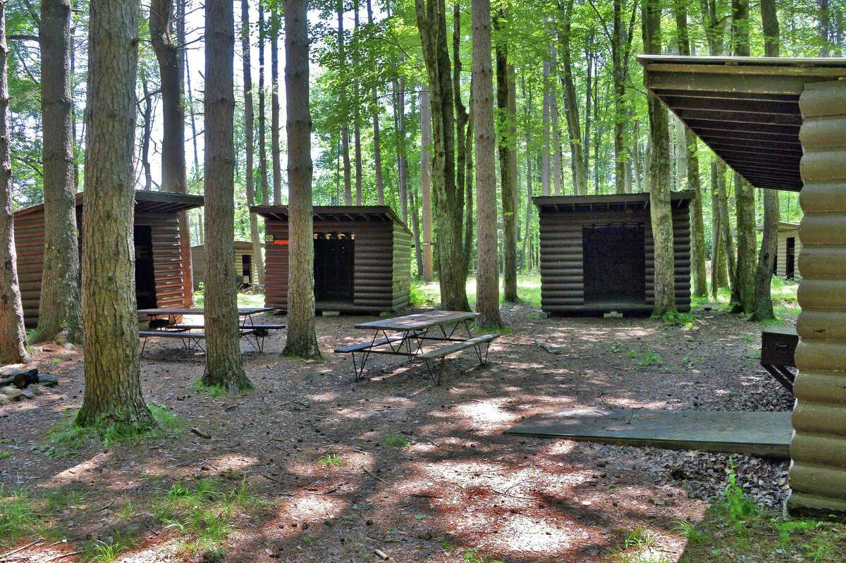 Campers' cabins at the old boy scout camp of Boy Haven Wednesday July 19, 2017 in Milton, NY. (John Carl D'Annibale / Times Union)