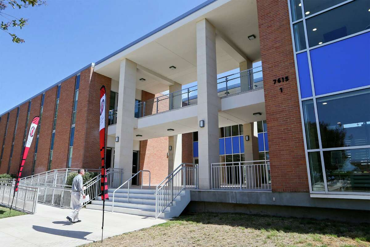 Shown is the administration building for UIW's School of Osteopathic Medicine at Brooks. On Friday, the university announced it has purchased seven buildings at Brooks, including four it already was leasing, to house its health professions programs.