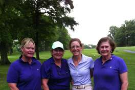 From left to right, Sukie McFadden, Angela Tammaro, Julia Guggenheimer and Leslie Cooper earned low gross honors at the Swing Fore Hope Tournament Thursday at Griffith E. Harris Golf Course. Presented by the Greenwich Women's Golf Club, the tournament benefited Kids in Crisis.