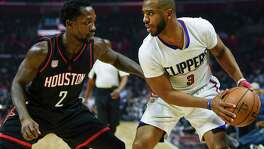 When Chris Paul, right, and Patrick Beverley match up on the court again, they'll do so in opposite jerseys since Beverley was part of the megadeal that brought Paul to Houston and sent Beverley to Los Angeles.