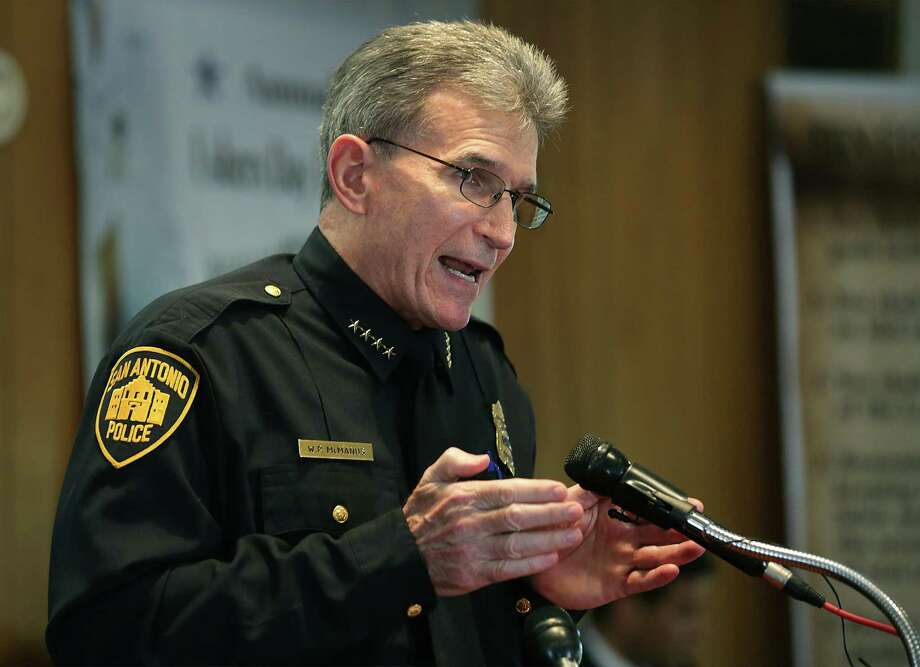 """San Antonio Police Chief William McManus""""I am thankful that, for the meantime, we can focus our energy on our prime objectives of community policing, responding to calls for service and solving crimes."""" Photo: Bob Owen /San Antonio Express-News / ©2017 San Antonio Express-News"""