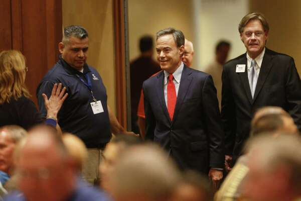 House Speaker Joe Straus enters the ball room to address  about 375 school board members and superintendents at a Texas Association of School Boards conference on Wednesday, June 14, at the San Antonio Marriott Rivercenter