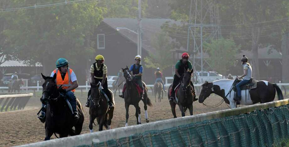 The action is picking up as more horses have arrived at the Saratoga Race Course for the 149th meeting at the historic venue Thursday July 20, 2017 in Springs, N.Y. (Skip Dickstein/Times Union) Photo: SKIP DICKSTEIN / 20041068A